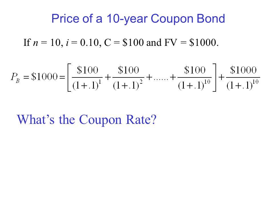 Zero coupon bond value formula