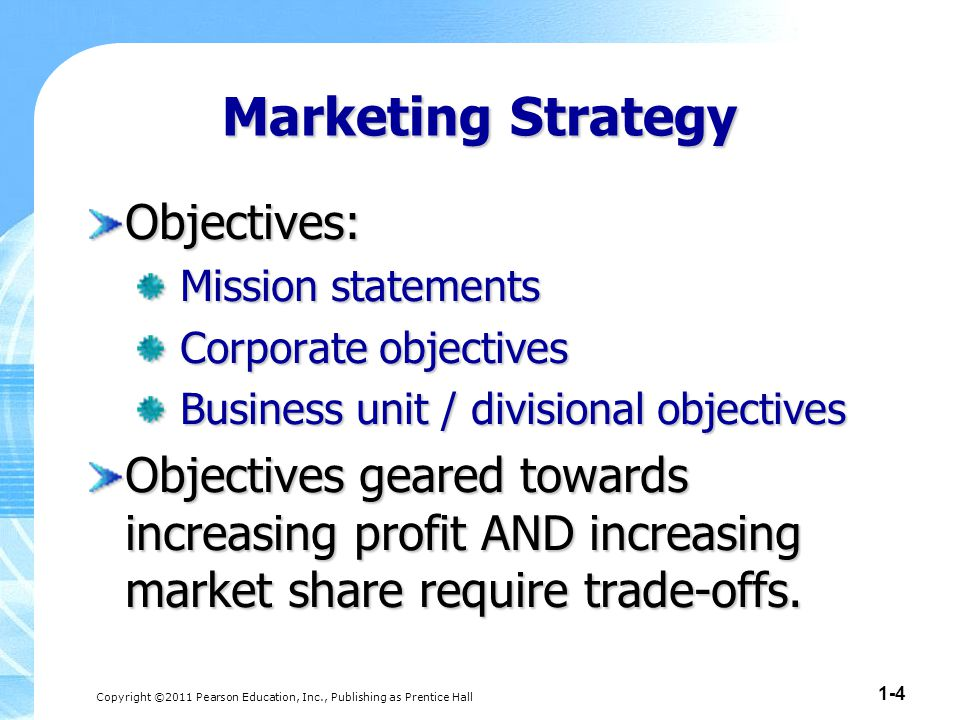 Sales and marketing strategies toward