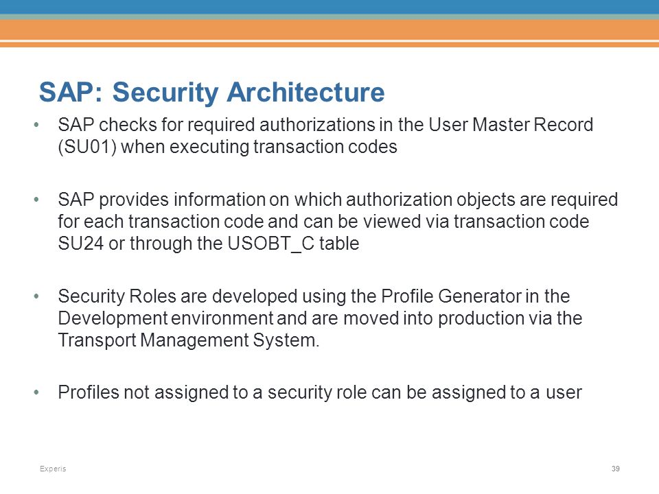 Sap Basics For Auditing Change Management And Security