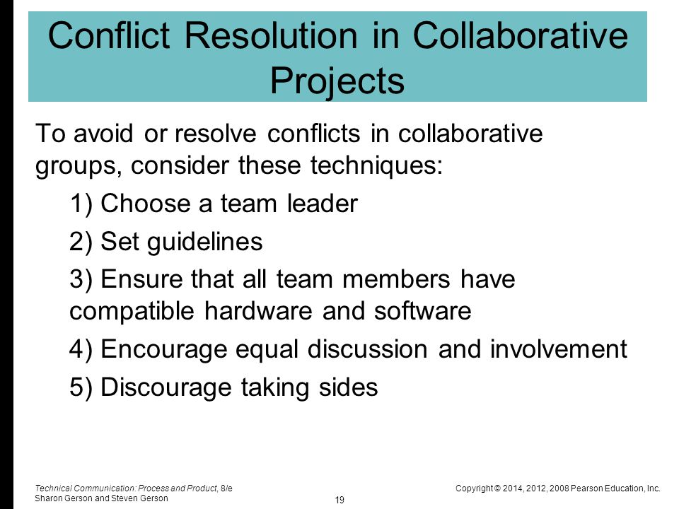 Conflict resolution in groups