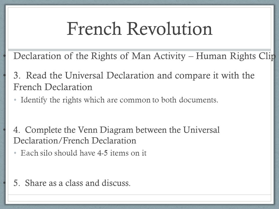 Declaration Of Independence And Declaration Of The Rights Of Man