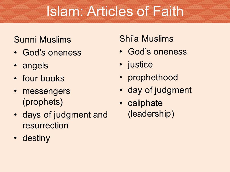 islam and articles of faith