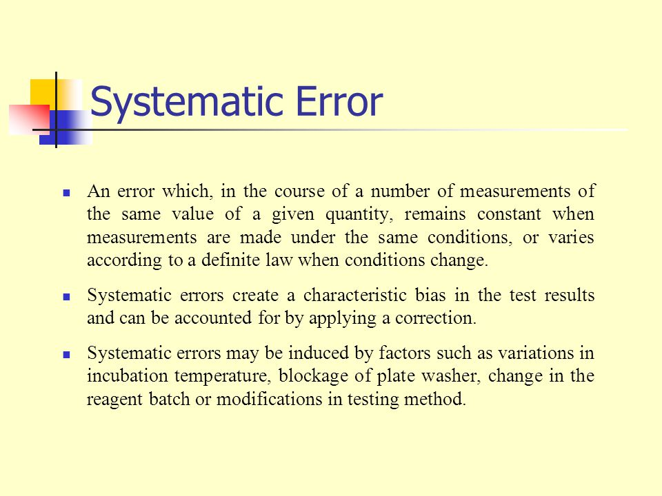 Systematic Error