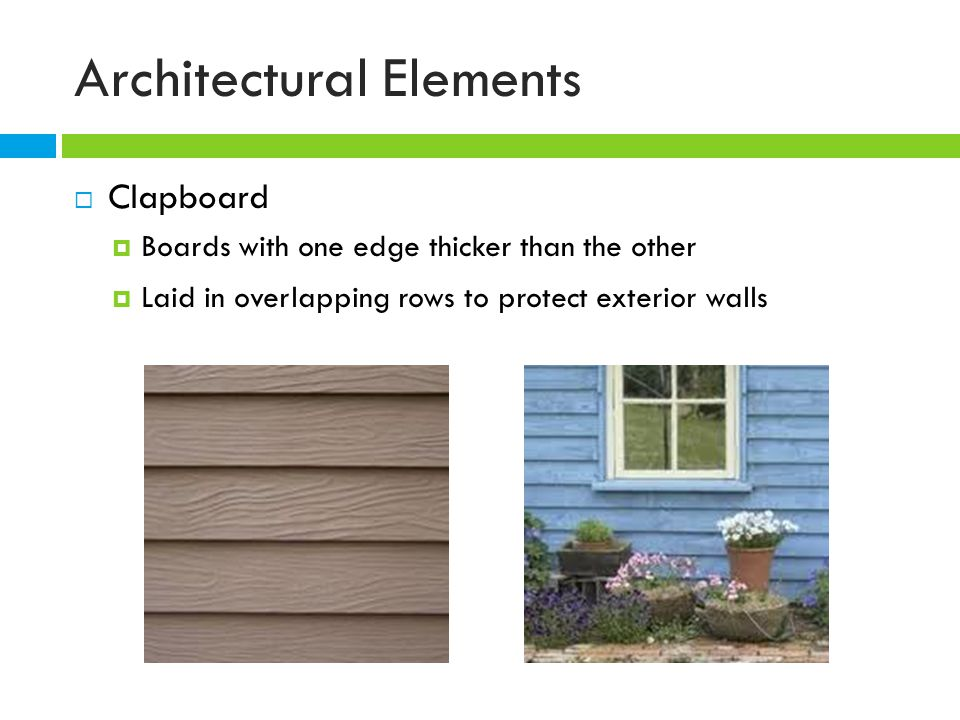 Architectural features ppt video online download for Exterior architectural elements