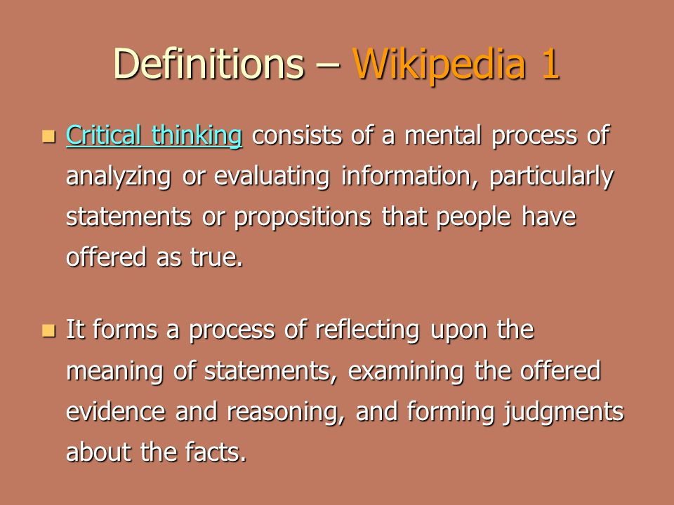 Definitions – Wikipedia 1