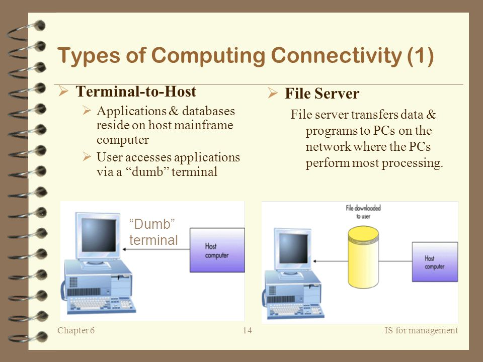 Types of Computing Connectivity (1)