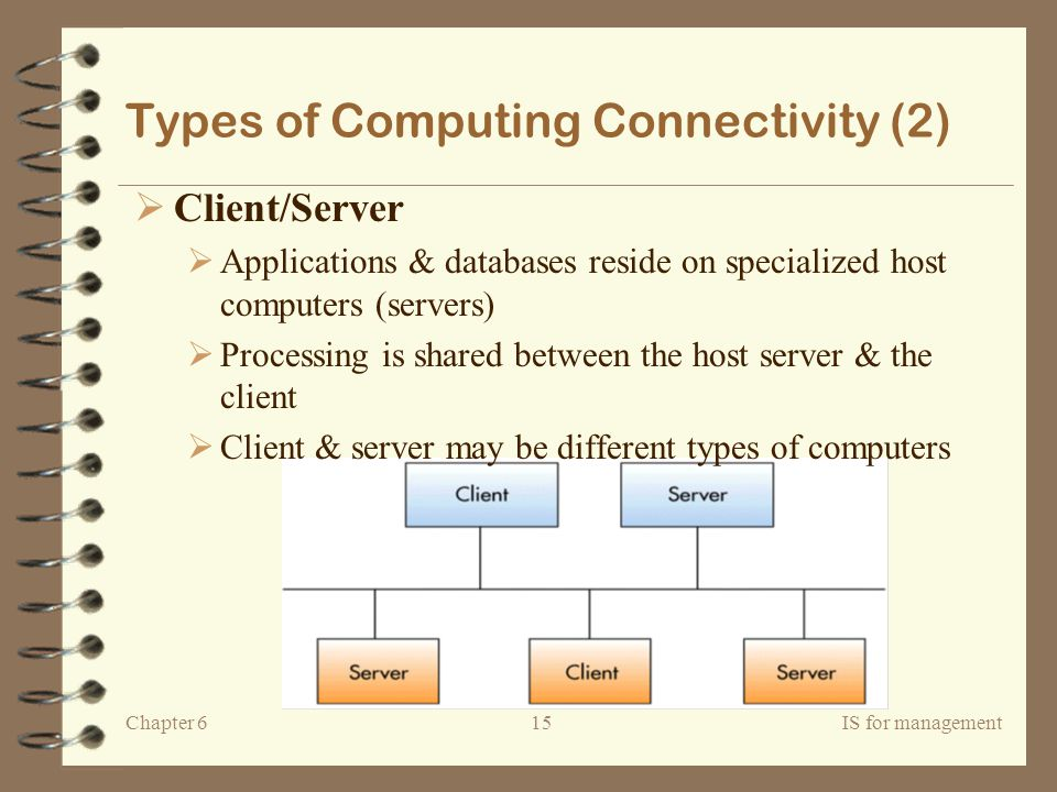 Types of Computing Connectivity (2)