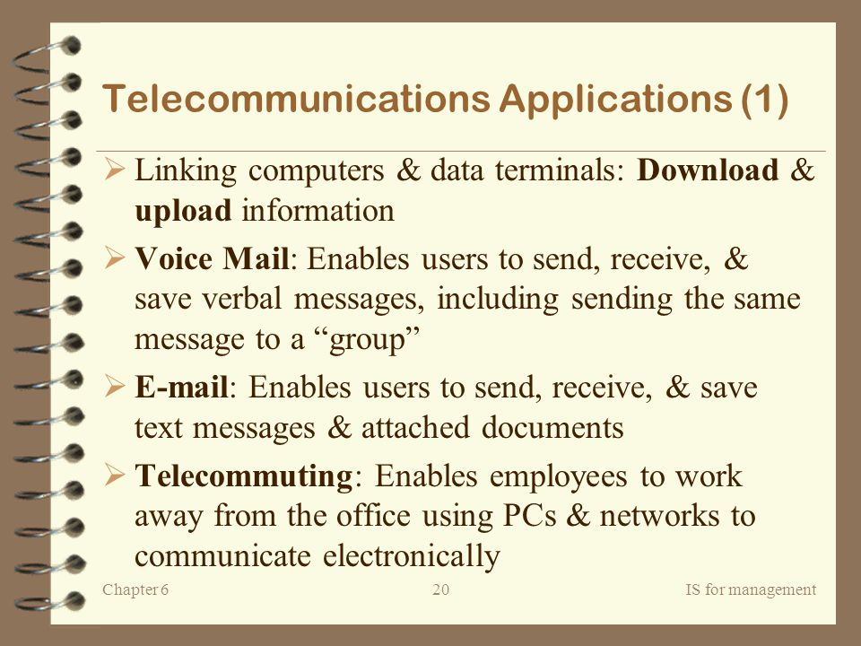 Telecommunications Applications (1)
