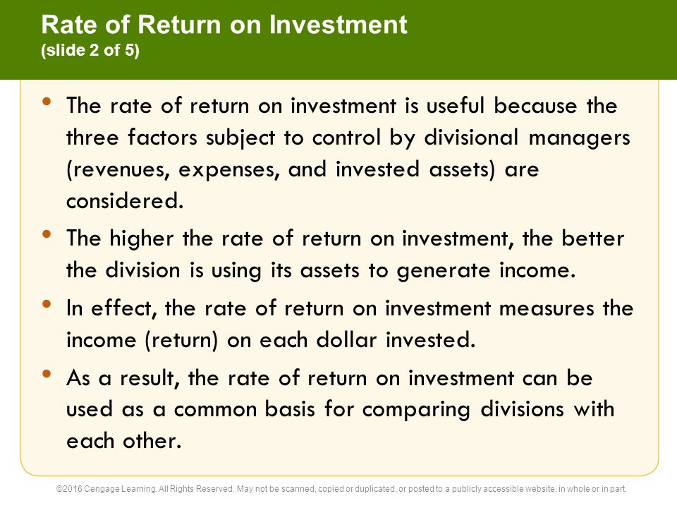 Rate of Return on Investment (slide 2 of 5)