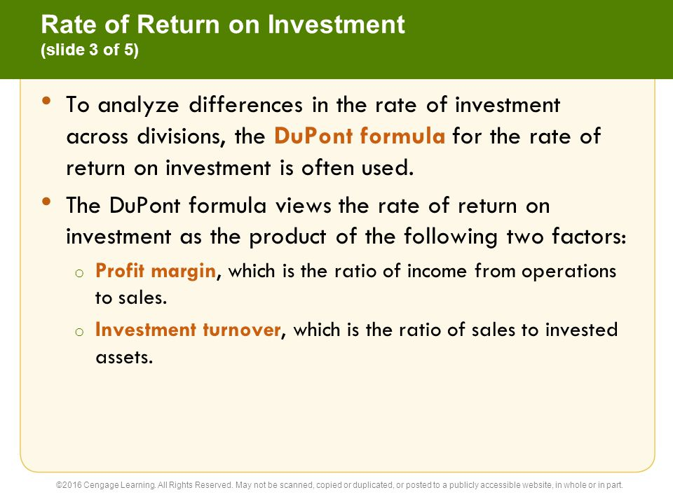 Rate of Return on Investment (slide 3 of 5)