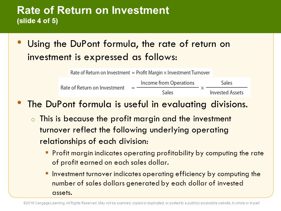Rate of Return on Investment (slide 4 of 5)