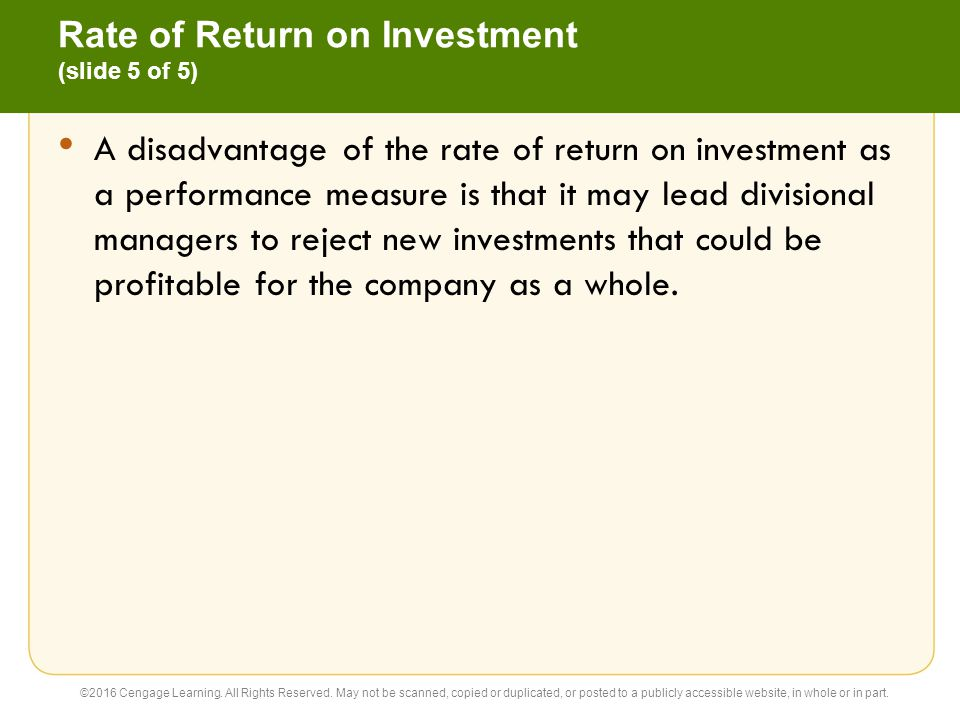 Rate of Return on Investment (slide 5 of 5)