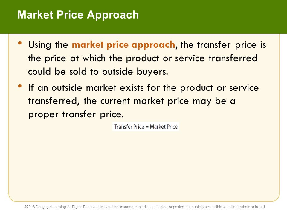Market Price Approach