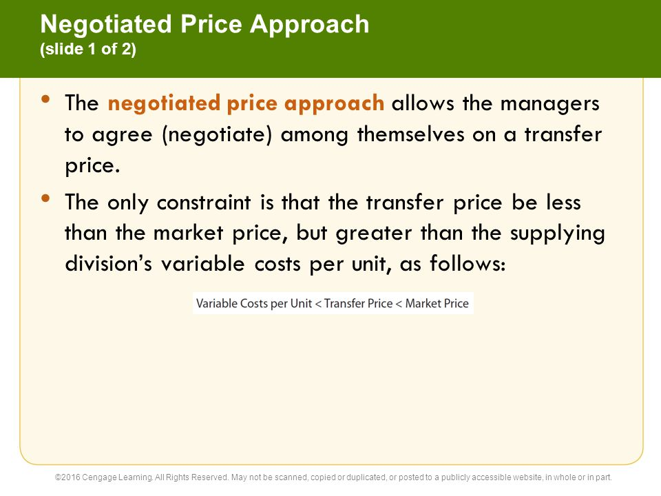 Negotiated Price Approach (slide 1 of 2)