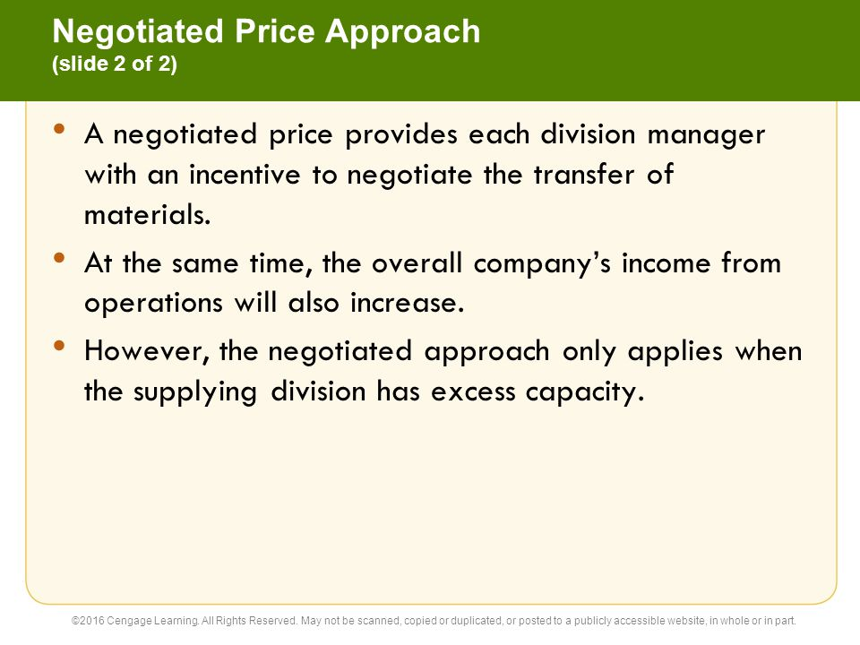 Negotiated Price Approach (slide 2 of 2)