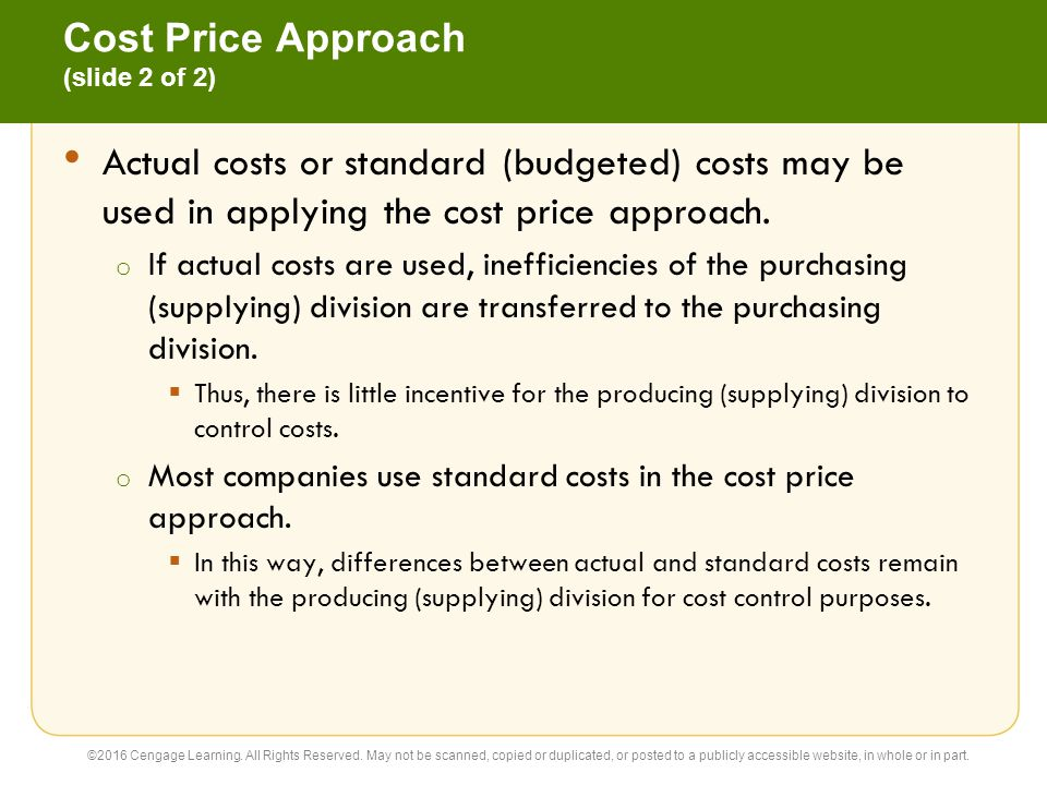 Cost Price Approach (slide 2 of 2)