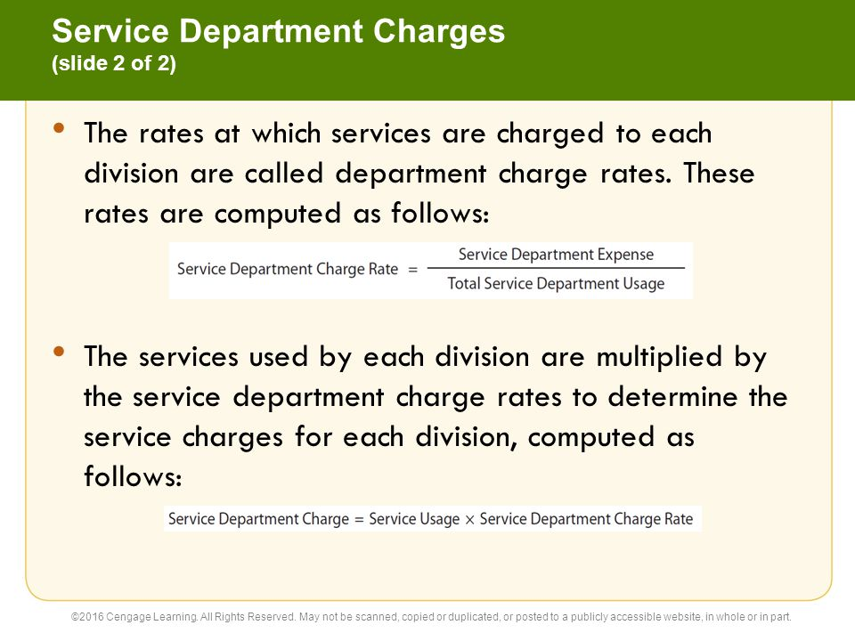 Service Department Charges (slide 2 of 2)