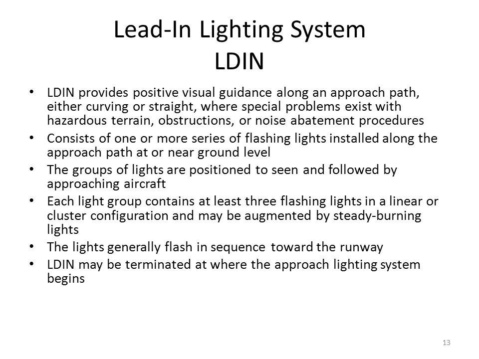 Lead-In Lighting System LDIN