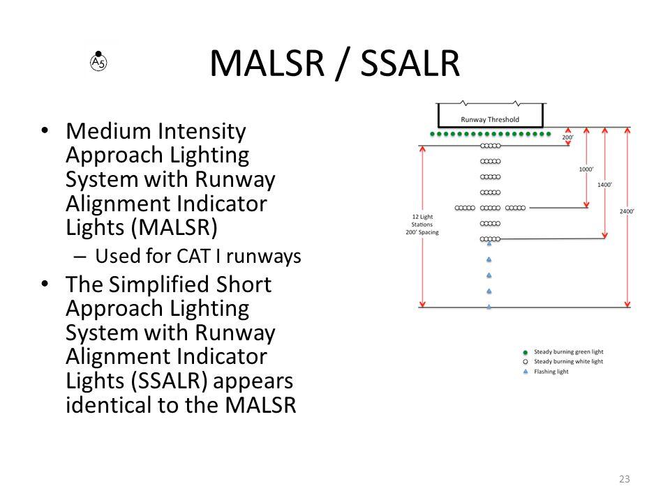 MALSR / SSALR Medium Intensity Approach Lighting System with Runway Alignment Indicator Lights (MALSR)