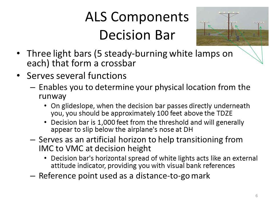 ALS Components Decision Bar