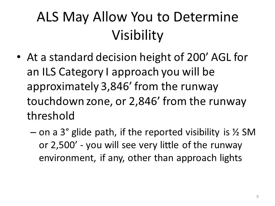 ALS May Allow You to Determine Visibility