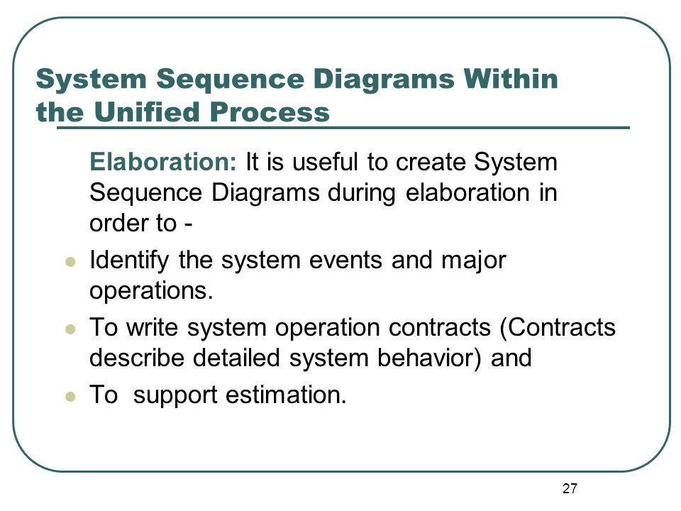 System Sequence Diagrams Within the Unified Process