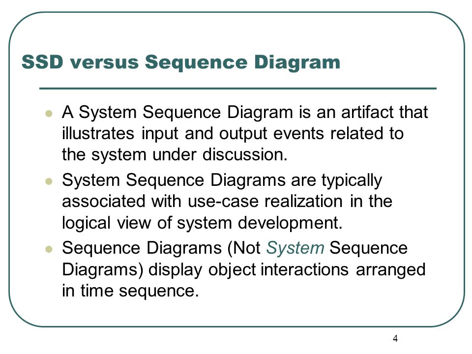 SSD versus Sequence Diagram