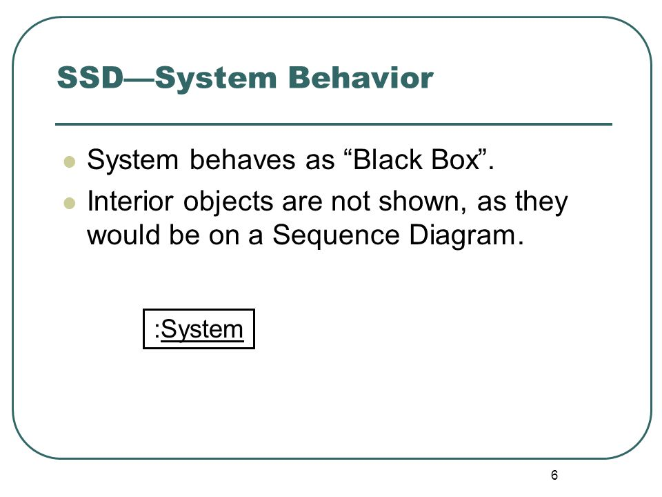 SSD—System Behavior System behaves as Black Box .
