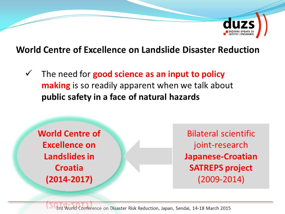 World Centre of Excellence on Landslides in Croatia