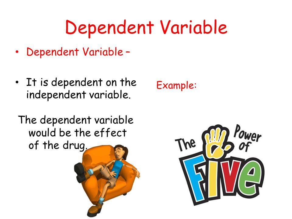 how to find the dependent variable