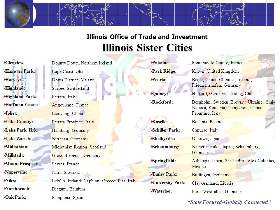 Illinois Office of Trade and Investment Illinois Sister Cities
