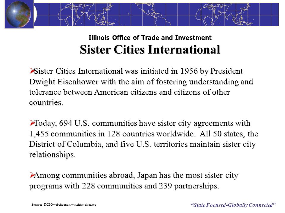 Illinois Office of Trade and Investment Sister Cities International