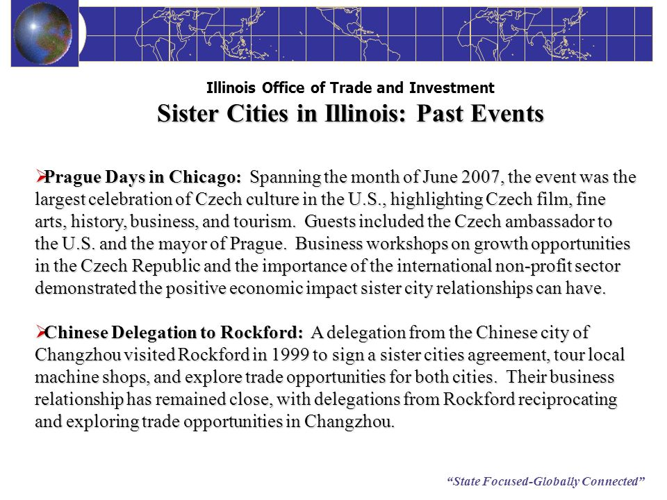 Illinois Office of Trade and Investment Sister Cities in Illinois: Past Events