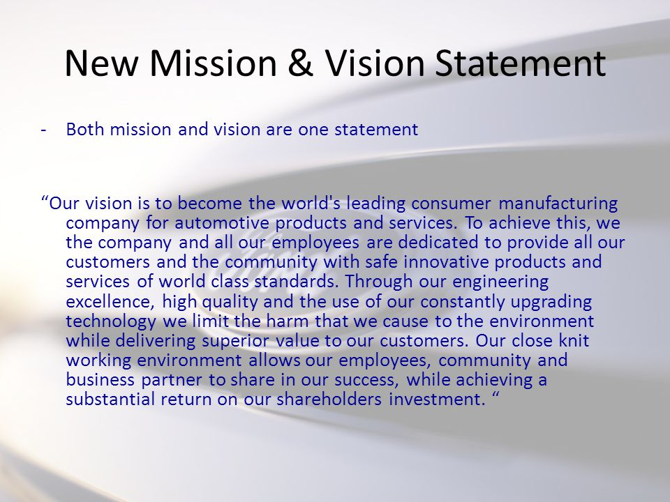 tiffany and co mission and vision statement