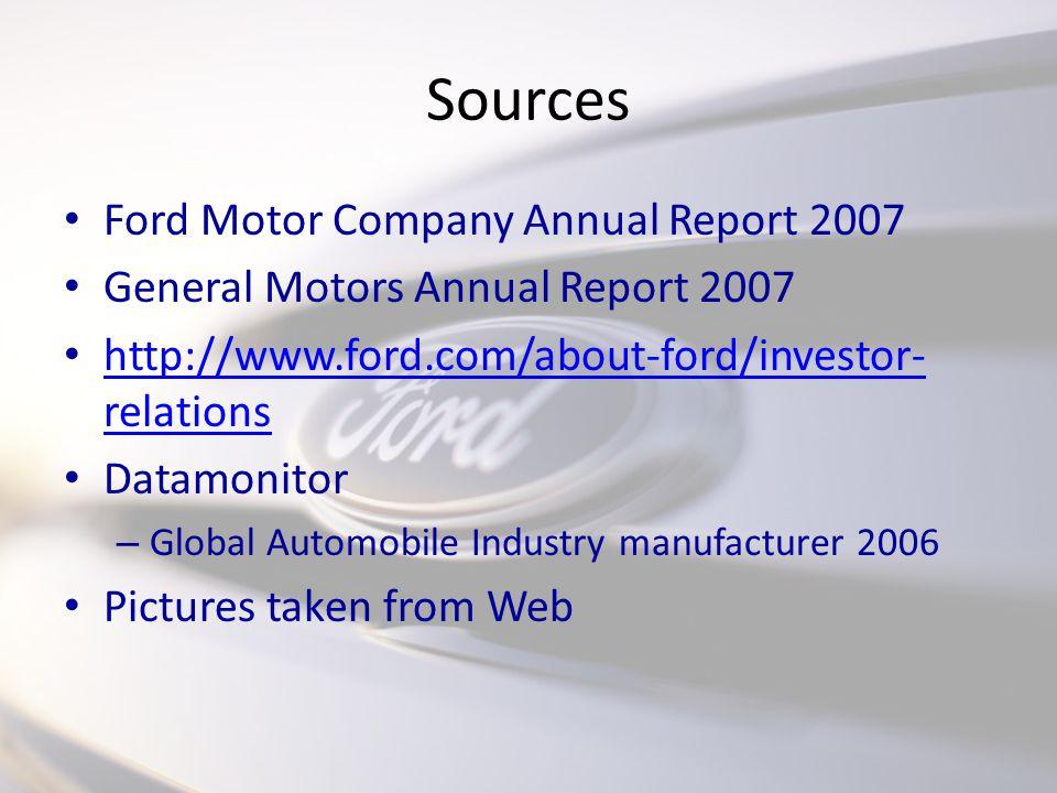 Hamill bassue owen hendershot goran nagradic ppt download for Ford motor company annual report