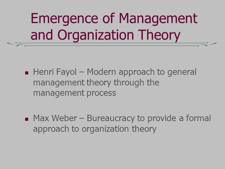 An analysis of the organization man henri fayol