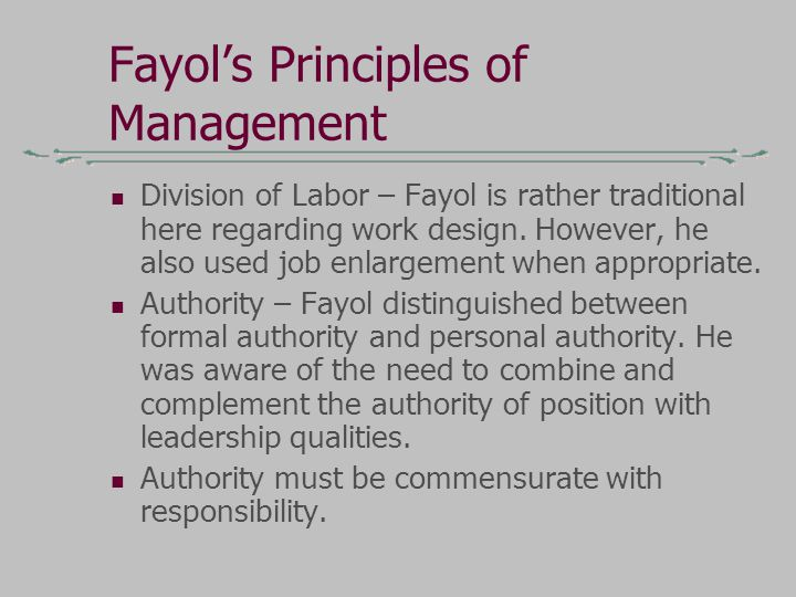 henry fayol theory still stay relavant Profits, managers still have goals and should strive to accomplish them with the  minimum of  a theory provides criteria for what is relevant second,  indeed,  challenge us – to keep learning about our world by definition  organizational  theory school comprising the works of henri fayol's views on.