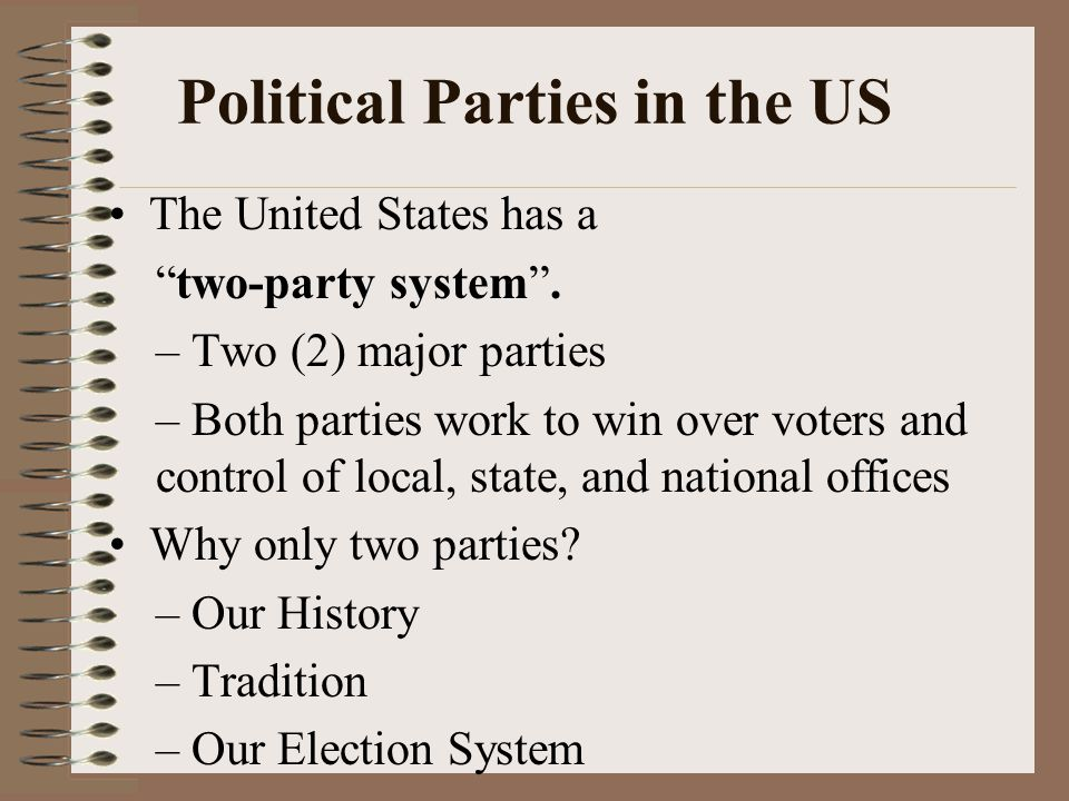 why do we have a two party system in the united states essay The two party system essays since 1856, two political parties have been dominant, the democratic party and the republican party as they have butted heads, no other party has been elected to the office of president.