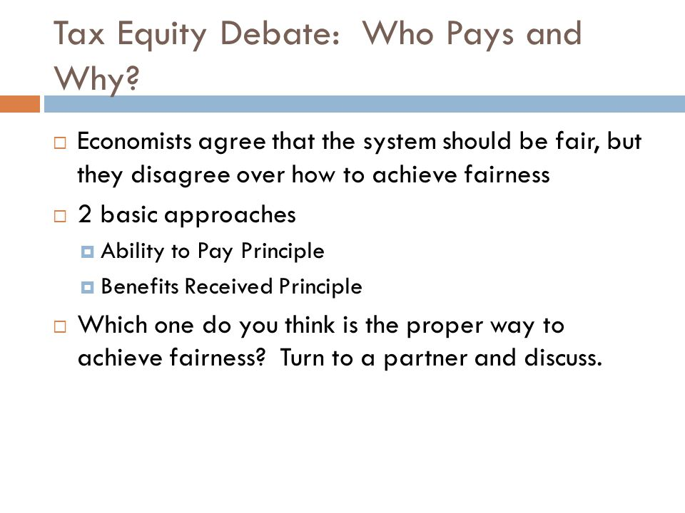 Tax Equity Debate: Who Pays and Why