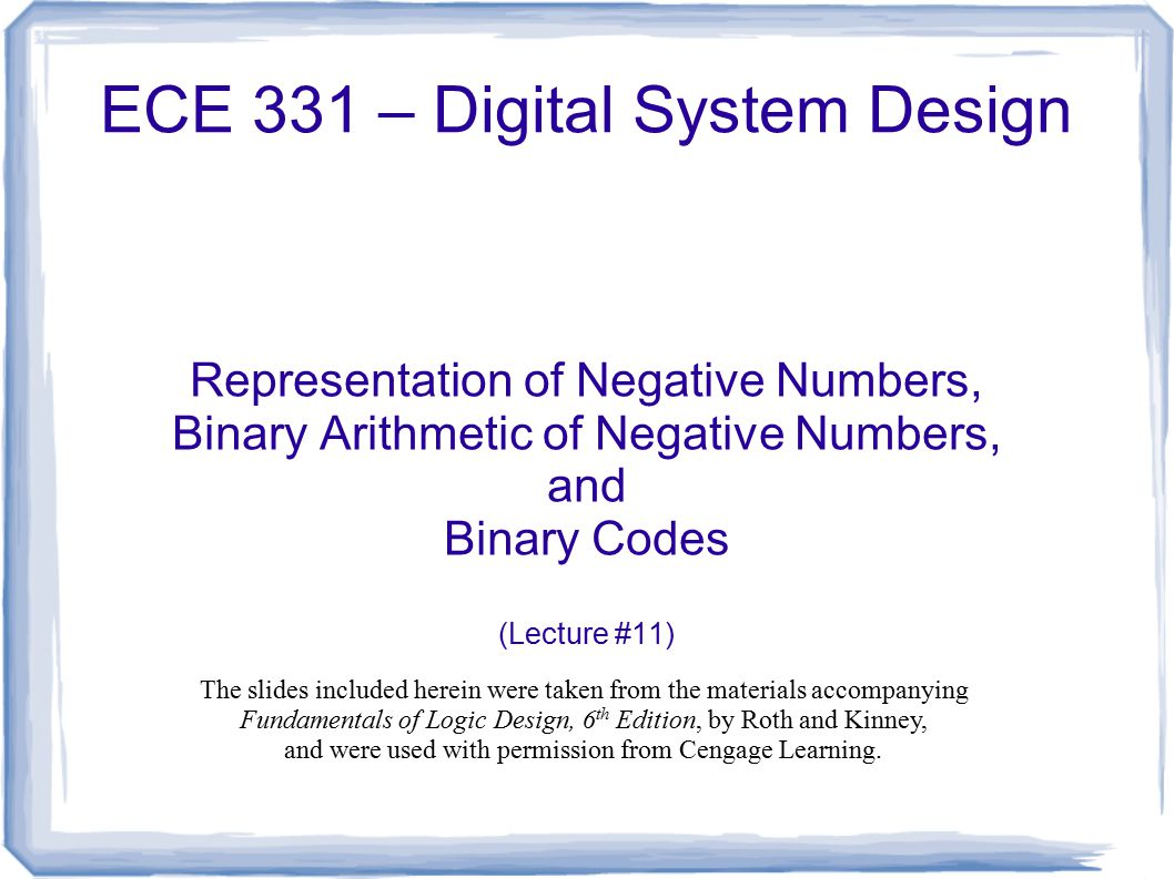 how to show negative numbers in binary