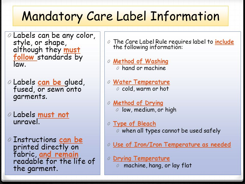 understand product labeling guidelines ppt