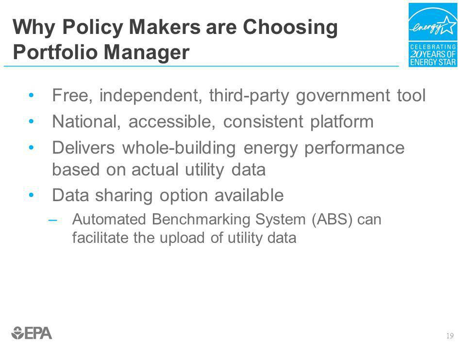 Why Policy Makers are Choosing Portfolio Manager