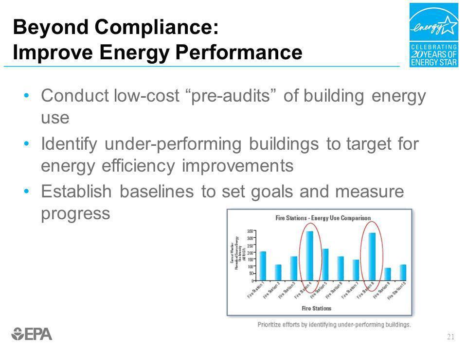 Beyond Compliance: Improve Energy Performance