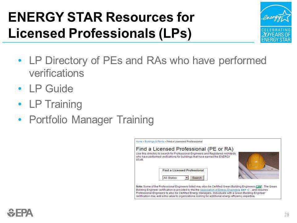 ENERGY STAR Resources for Licensed Professionals (LPs)