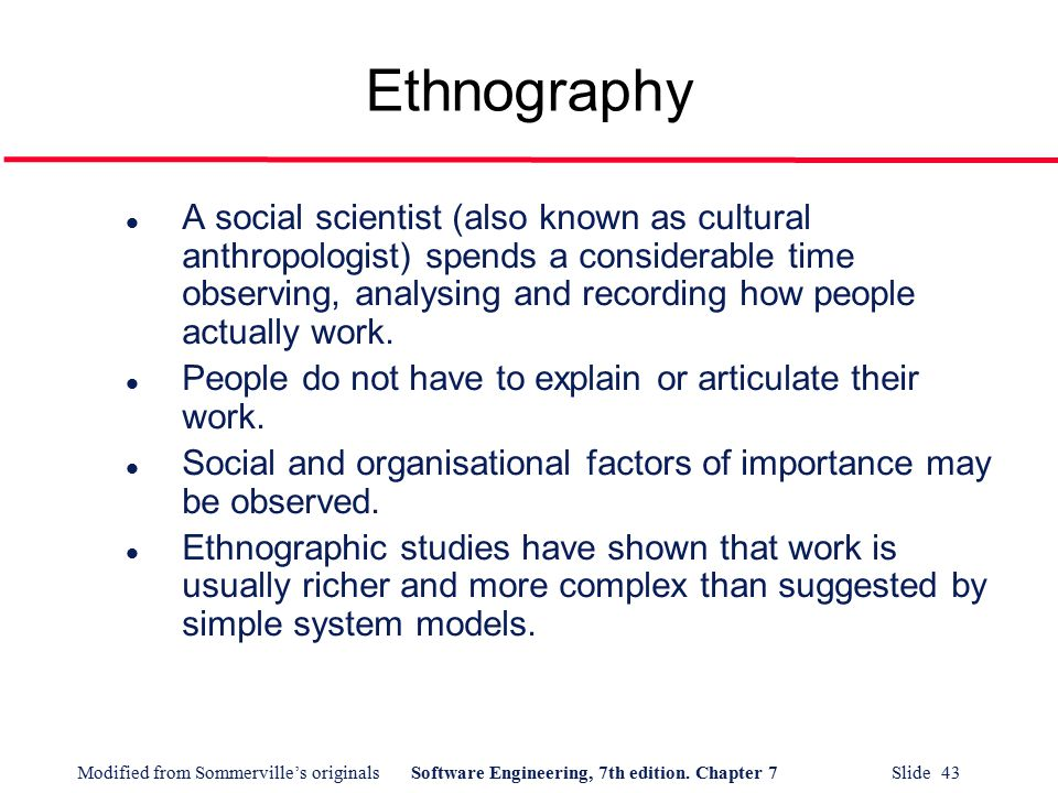 the many factors that can influence the ethnographic process for an anthropologist Review of educational research spring 1982, vol 52, no 1, pp 31-60 problems of reliability and validity in ethnographic research.