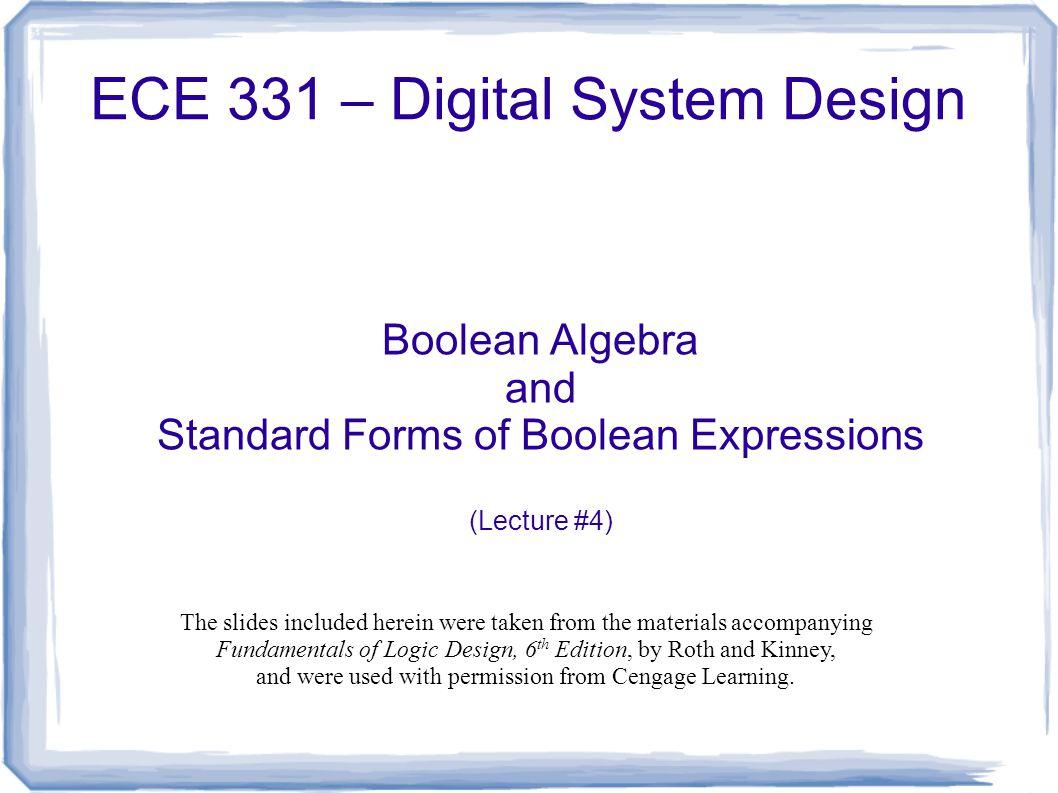 Ece 331 digital system design ppt download ece 331 digital system design falaconquin