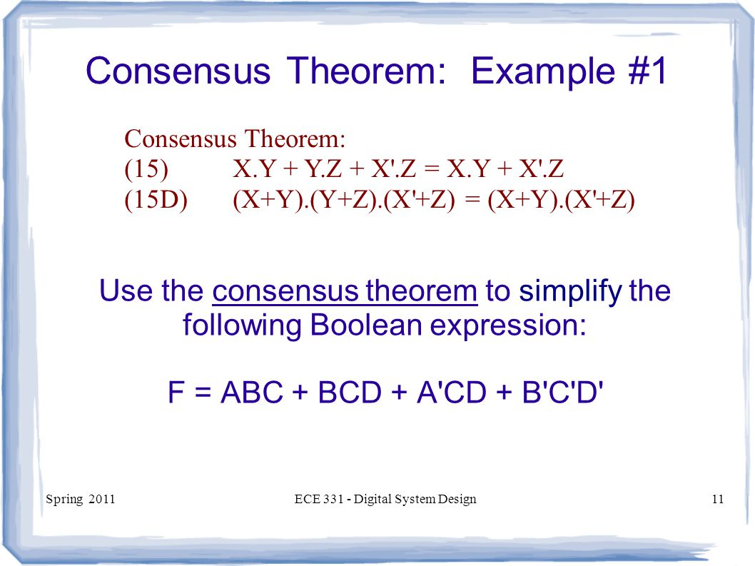 Consensus Theorem: Example #1