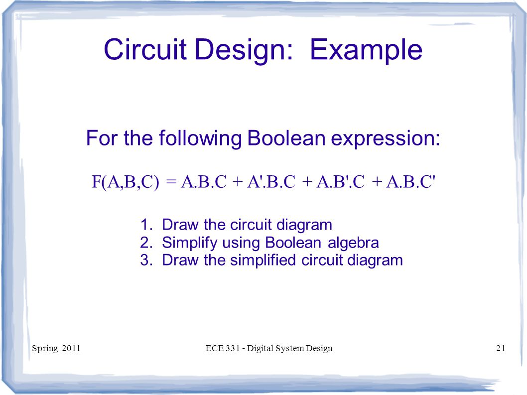 Circuit Design: Example
