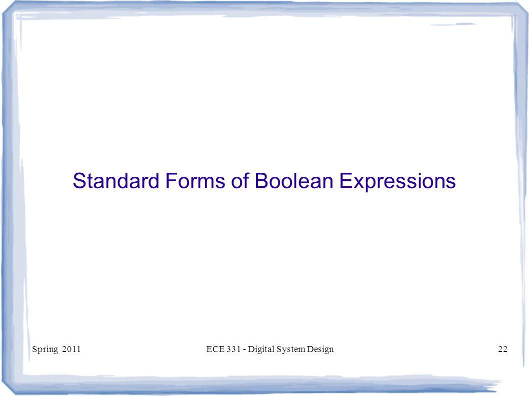 Ece 331 digital system design ppt download standard forms of boolean expressions falaconquin