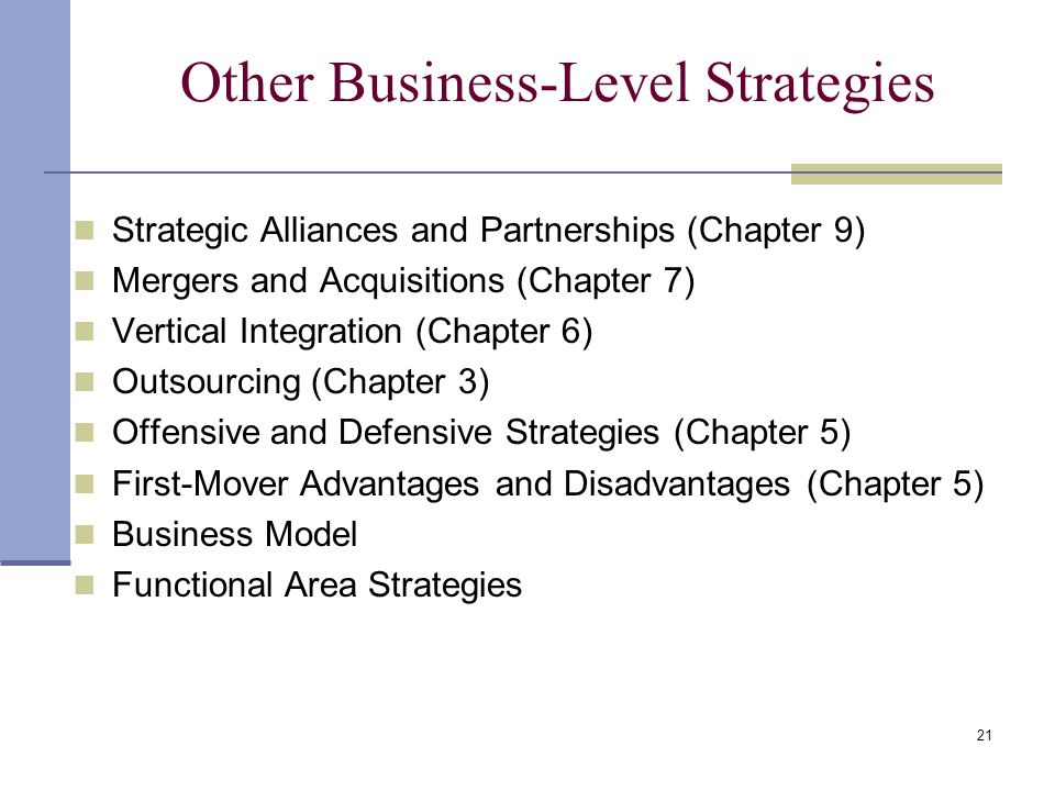 Other Business-Level Strategies